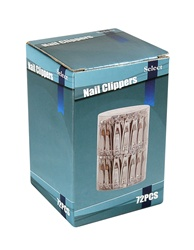 Nail Clippers Small PVC Box 72 pcs