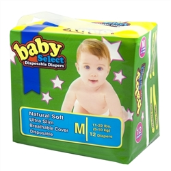 Baby Select Diapers Medium 12ct