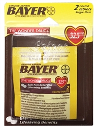 Bayer Aspirin Single-Pack Blister - 2 Tablets