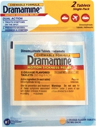 Dramamine Single-Pack Blister - 2 Tablets