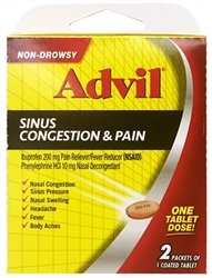 Advil Sinus Congestion & Pain Select-One Premium Single-Carton - 1 Caplet