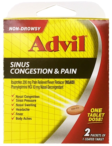 Advil Sinus Congestion & Pain Select-One Premium Single